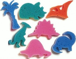 Contraceptive Dinosaur Sponge