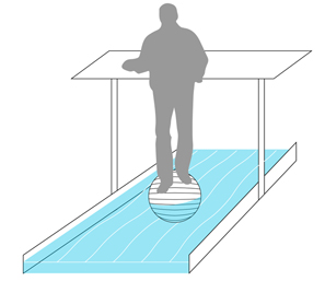 Standing Balance Ball Hydro Treadmill Desk